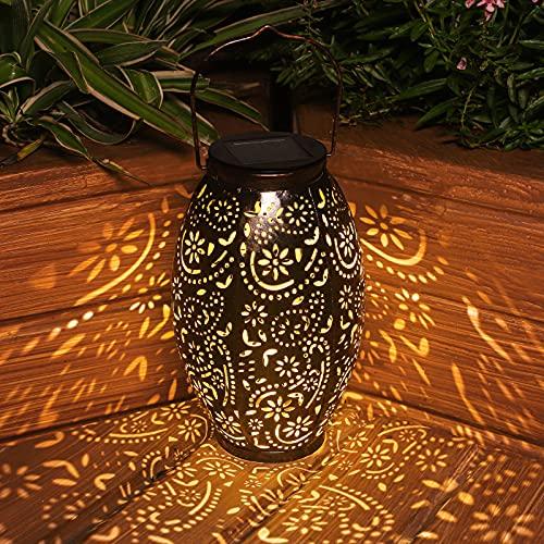 ANTING Solarlaterne für Außen Garten Hängende Laterne Dekorative Solarlampe Wasserdicht LED Solarleuchten Metall Dekolampe für Draussen Tabelle Terrasse Veranda Weg Patio