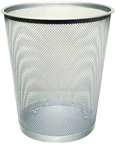 Q-Connect 18litros de basura de malla–Plata