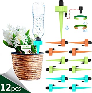 THEKBS Self Watering Spikes, Plant Watering Devices, Automatic Plant Waterer with Slow Release Control Valve Switch for Plants or Vegetables (12)