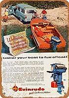 Evinrude Outboard Motors ティンサイン ポスター ン サイン プレート ブリキ看板 ホーム バーために