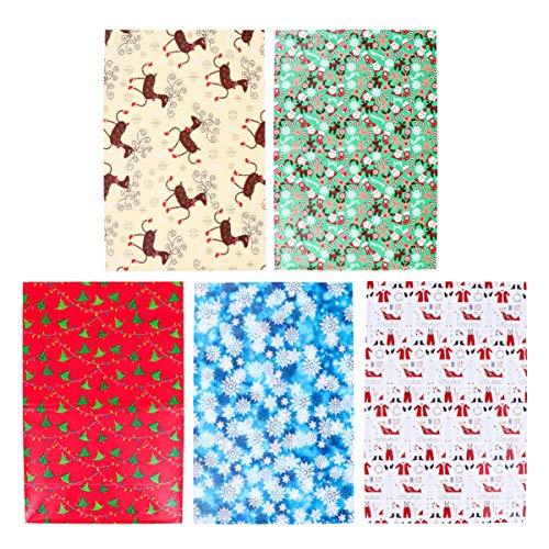 ULTNICE 10 Blatt Weihnachtspapier Weihnachtselemente Packpapier Zufälliger Stil