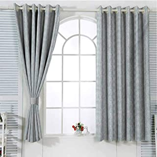 FreeKite Vintage Curtains for Sliding Glass Door Lace Pattern Backdrop with Floral Composition Victorian Inspirations Wedding Room Decor Blackout Shades W72 x L96 Inch Seafoam White