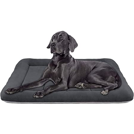 Hero Dog Large Dog Bed 42 inch Crate Pad Mat Washable Anti Slip Pet Beds for Sleeping Dark Grey L