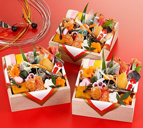 京都の料亭 濱登久 おせち料理 2021 個食三段重 24品x3段 盛り付け済み 冷蔵 生おせち お届け日:12月31日