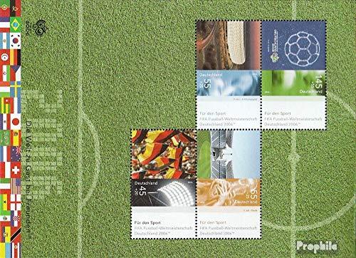 Prophila Collection Germania Block 67 (Completa Edizione) Ersttagssonderstempel 2006 Sport (Francobolli per i Collezionisti) Calcio