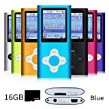 G.G.Martinsen Versatile MP3/MP4 Player with a Micro SD Card, Support Photo Viewer, Mini USB Port 1.8 LCD, Digital MP3 Player, MP4 Player, Video/Media/Music Player-Blue