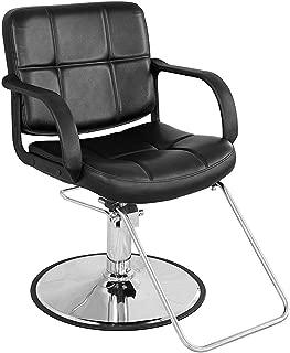 BarberPub Classic Hydraulic Barber Chair Salon Beauty Spa Styling Chair 8837 (Black)