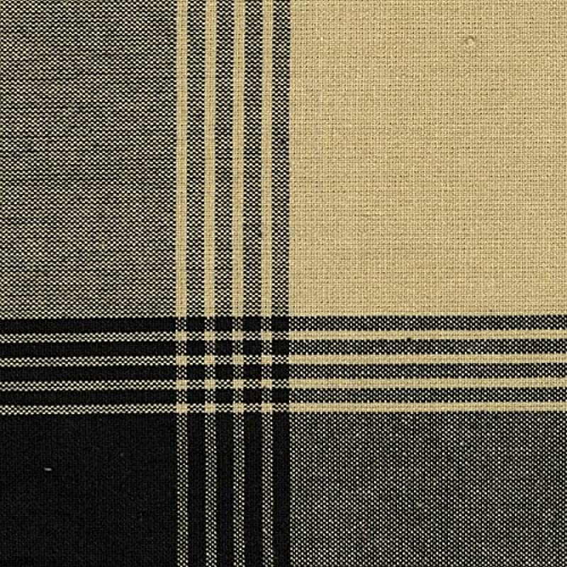 Dunroven House 733 BLK Stripe Mcleod Towel 20 Inch X 28 Inch Black And Tea Dye