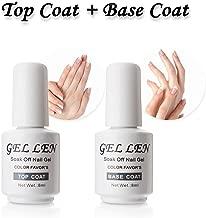 Gellen Top Coat And Base Coat for Gel Polish - Long lasting Shine Finish, 8ml Each Bottle