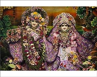 robertharding 10x8 Print of Krishna and Rada Statues in Bhaktivedanta Manor ISKCON (Hare Krishna) Temple (5926997)