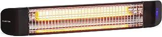 KLARSTEIN Smartwave - Radiador infrarrojo, IR ComfortHeat, Potencia 2.400 W, Carbono, Regulable, Termostato Digital, Reconocimiento de Personas, OpenWindow Detection, Mando a Distancia, WiFi, Negro
