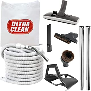Ultra Clean AM8050A Deluxe 50' Central Vac Vacuum Hose and Attachment Kit