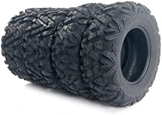 Complete Set of 4 All Terrain ATV UTV Tires 25x8-12 Front & 25x10-12 Rear 6PR Tubeless