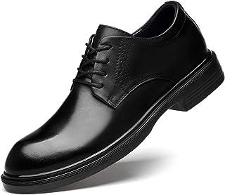 DADIJIER Oxfords Zapatos de Vestir para Hombres Pozo Redondo de 4 Ojos Encaje de 4 Ojos Tacón Grueso Tacón de Lujo esplénd...
