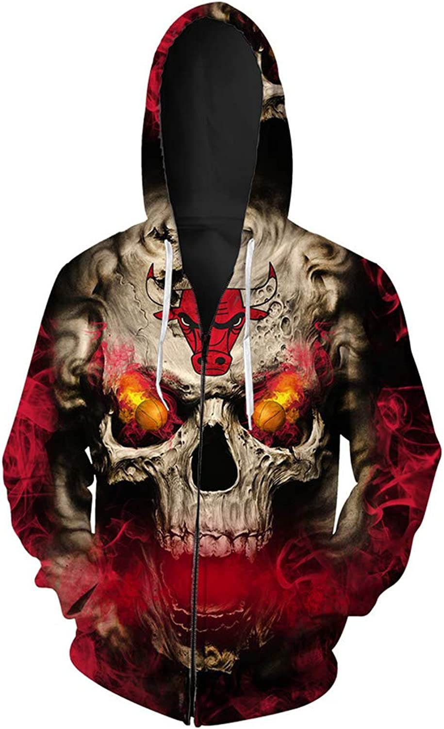 Fashion Hooded Hoodie Zipper Sports Hooded Sweatshirt, Unisex Spring and Autumn Anime Printing Fashion RolePlaying Loose Large Size Casual Couple,(S6XL)