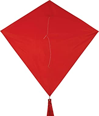 In the Breeze 3299 - Cherry 30 Inch Diamond Kite - Solid Red, Fun, Easy Flying Kite