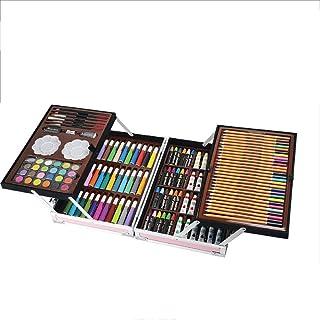 マーカーペン それはすべての追加の供給が含まれていますメガウッドボックスアート絵画デッサンセット (Color : Pink, Size : Free size)