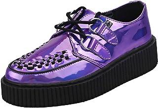 T.U.K Casbah Creeper Holo D-Ring Womens Creeper Shoes