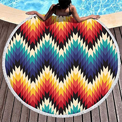 Alfombra de yoga con flecos para playa y patinaje sobre ruedas de playa de Egypt India, toalla multiusos súper suave, súper absorbente, longitud 122 cm.