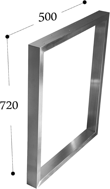 CHYRKA Tischgestell Edelstahl 201 40x20 Rahmentisch Kufengestell Tischkufe Tischuntergestell (720x500 mm - 1 Stück)