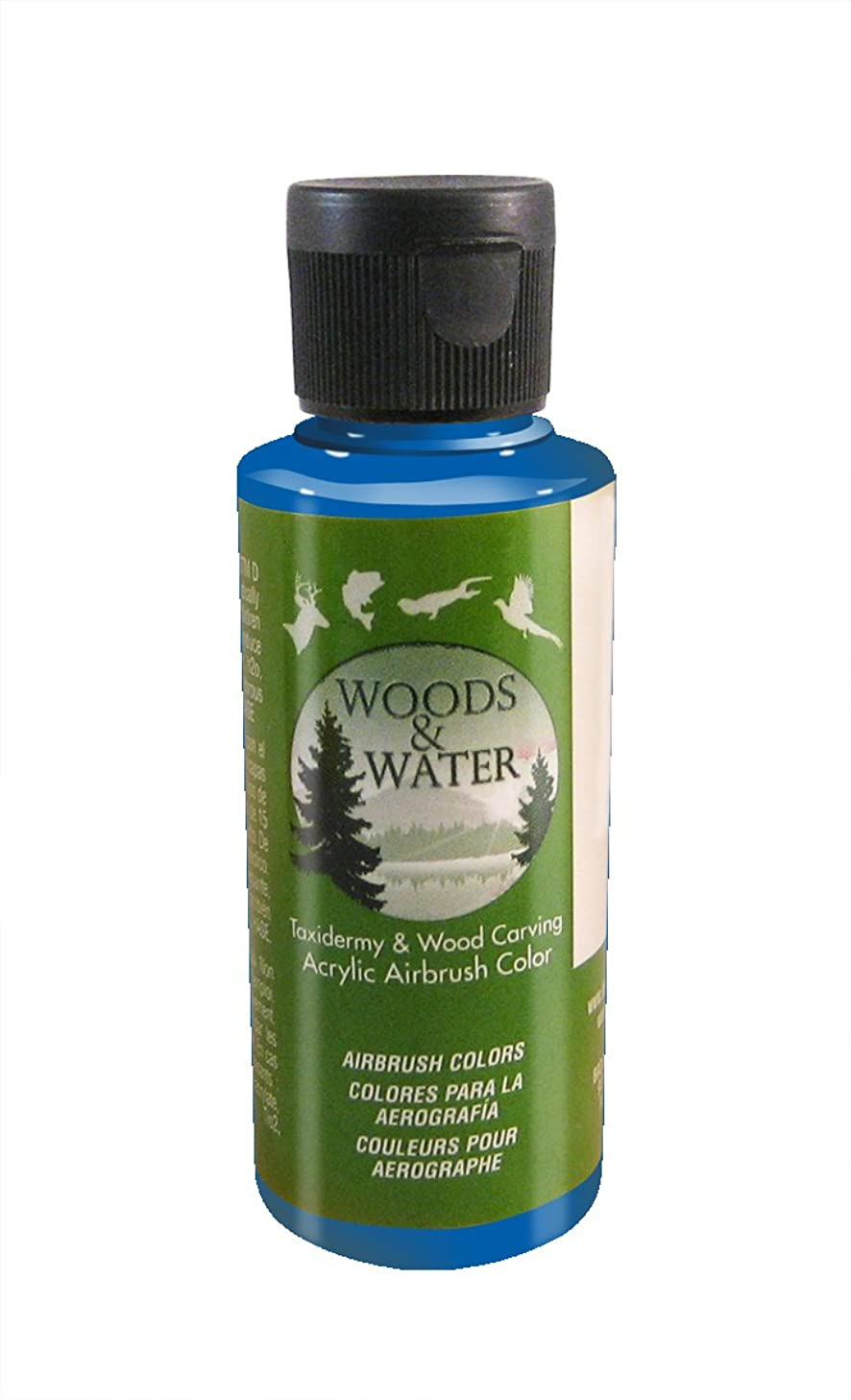 Badger Air-Brush Co. 4-Ounce Woods and Water Airbrush Ready Water Based Acrylic Paint, Candy Blue