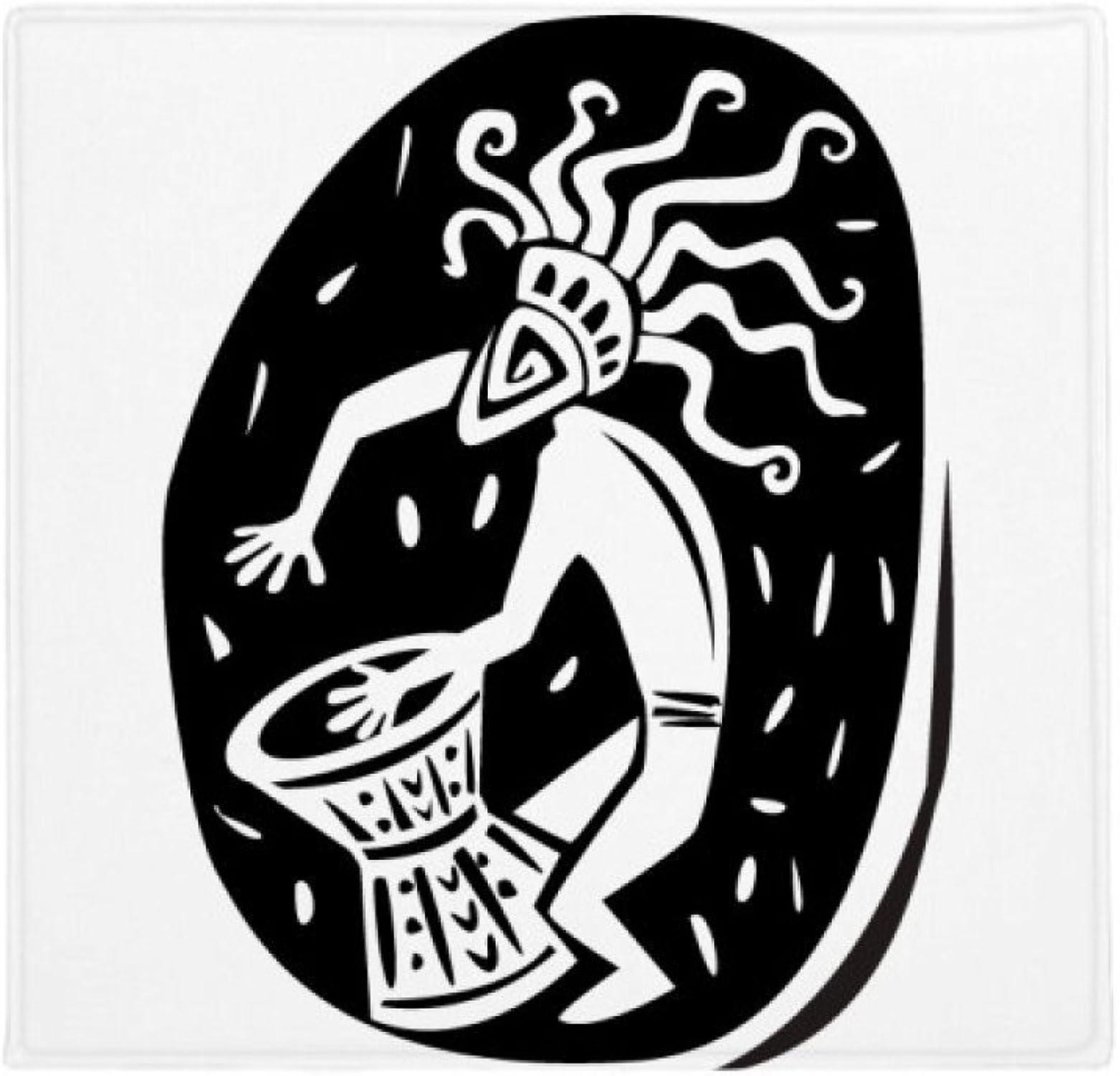 Precio al por mayor y calidad confiable. DIYthinker Planta Pet Square Alfombra Alfombra Alfombra de su casa Puerta de la Cocina 80cm Regalo Abstracta Antiguo Egipto el faraón Silueta Antideslizante 80 X 80cm  calidad oficial