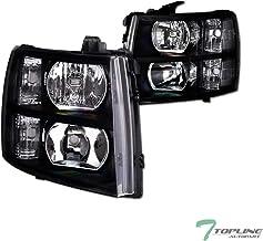 Topline Autopart Black Clear Housing Headlights Signal NB...