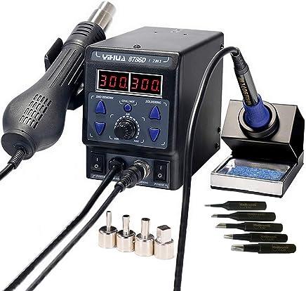 italtronik- Estación de soldadura YIHUA 87862en 1, de aire caliente, con lápiz de soldadura