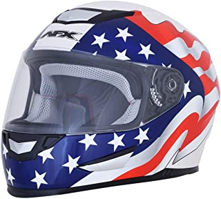 AFX FX-99 Helmet - Flag (Medium) (Pearl White)