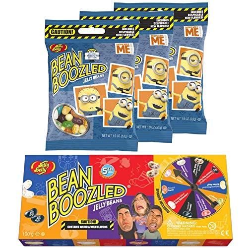 Jelly Belly Glücksrad Bean Boozled und 3 Minion Edition Tüten (262 g)