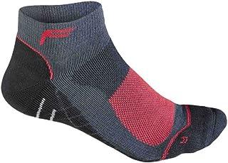 Calcetines Medios de Ciclismo de montaña Merino para Hombre, Antracita/Rojo, 39-42, 24-4511-8-2-0192