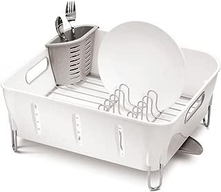 simplehuman Compact Dish Rack, White Plastic