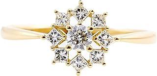 カナディアンダイヤモンド リング 計0.34ctUP [K18YG] 専用ケース付 16号