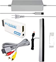 SSIOIZZ 4 in 1 Wii Replacement Cables Set, Wii AC Power...