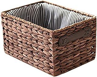 RKRCXH Boîte de Rangement en rotin Paniers à Linge rectangulaires en rotin tissé à la Main Conteneur de Maquillage Snack P...