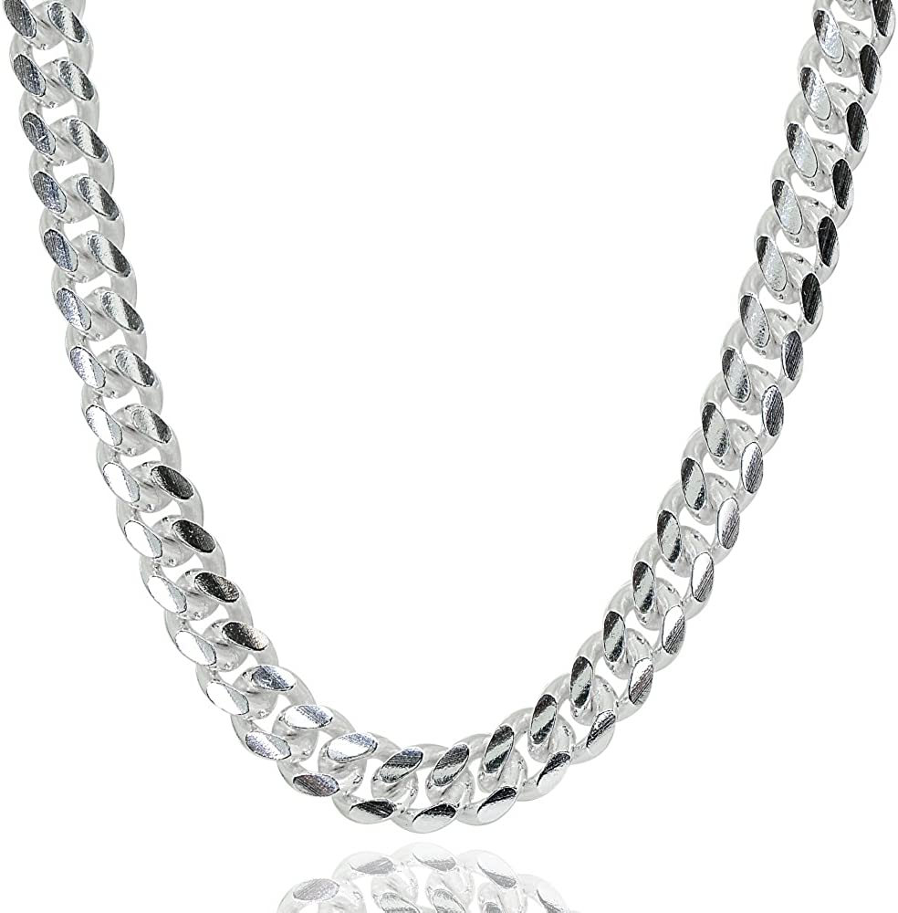 Sterling Silver 4.5mm store Miami Cuban Curb for M Necklace Max 42% OFF Link Chain