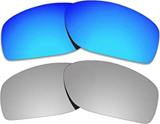 COLOR STAY LENSES 2.0mm Thickness Polarized Replacement Lenses for Oakley Conductor 8 OO4107 Titanium Mirror Coatings