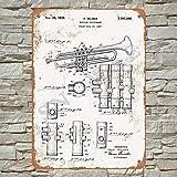 Snowae 1939 Selmer Trompete Patent Metal Poster Wand