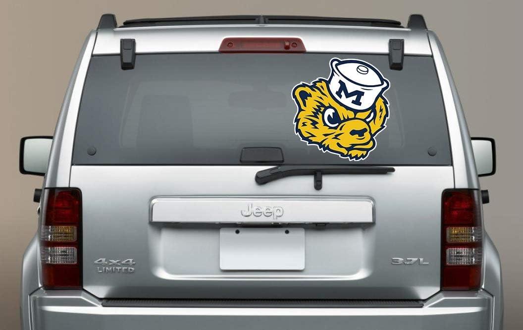 5 in Michigan Wolverines Sticker University of Michigan Vinyl Decal NCAA Logo Team Colors