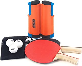 GSE Games & Sports Expert Anywhere Portable Ping Pong Table Tennis Set to Go - Includes Retractable Net & Post, 2 Paddles...