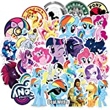 My Pony Stickers for Water Bottles,50 Pack Cute Cartoon Waterproof Stickers for Hydro Flask,Laptop,Waterbottle,Travel Extra Durable