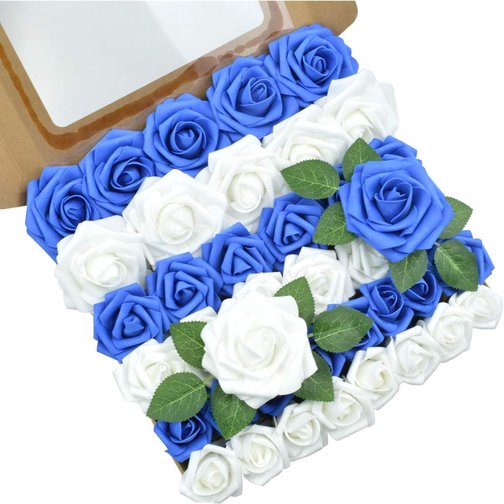 Wedding Flowers 50 Dark Blue Wooden Roses Colour No.5 More colours in shop