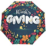Jour de Thanksgiving Fleurs Florales Automne Automne Ouverture Automatique Fermeture Parapluies Anti UV Pliant Compact Automatique Parapluie