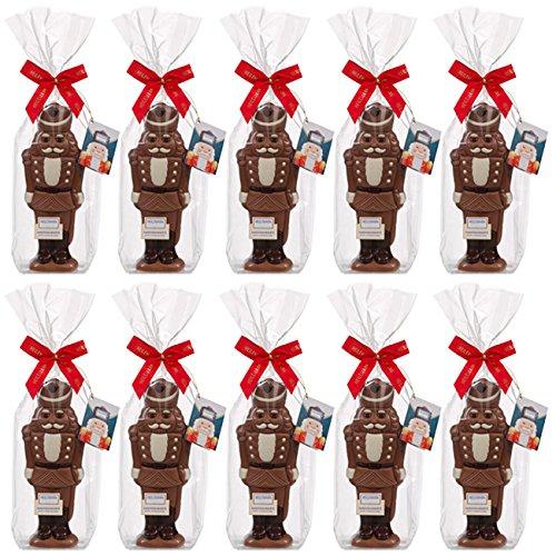 10er SET Nussknacker Schokoladenfigur 125 g Edelvollmilch Schokolade Weihnachten