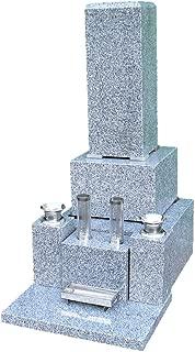 高級青御影石 6寸角石碑 一式(文字彫入 運送 据え付け ステンレス備品一式 納骨所等全てを含む) 墓石 墓
