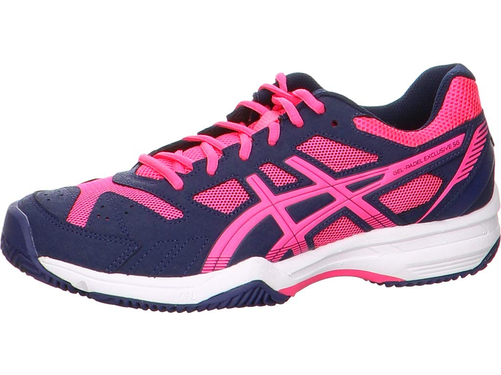 ASICS GEL PADEL EXCLUSIVE 4 SG MARINO FUCSIA E565Q 4920: Amazon.es ...