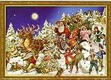 Calendario dell'Avvento con Babbo Natale vittoriano