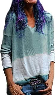 Weant Blusa casual de manga larga para mujer, sexy, cuello en V ...