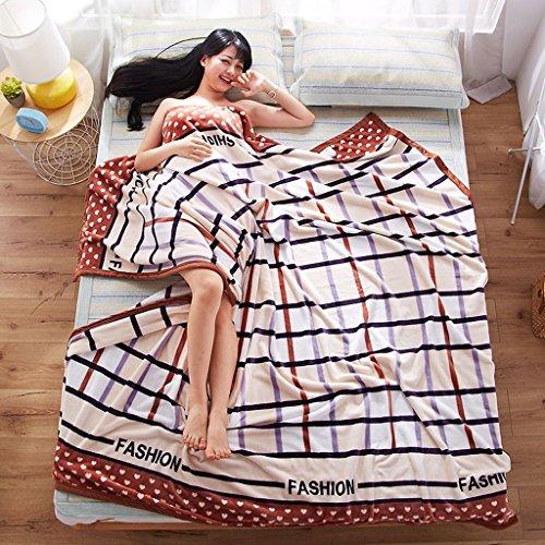 Wddwarmhome Chambre Lit Couverture Bureau Nap Couverture Rayé Lattice Motif Loisirs Couverture Couverture De Voyage Polyester Matériel Couvertures (Taille : 200 * 230cm)