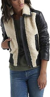 Lucky Brand womens SHERPA LEATHER JACKET Jacket